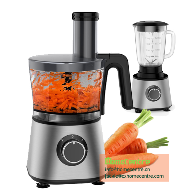 2 in 1 Electric Food processor/500W/1.5L/glass jar blender
