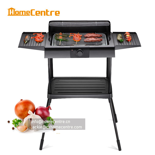 XL large electric BBQ grill with stand