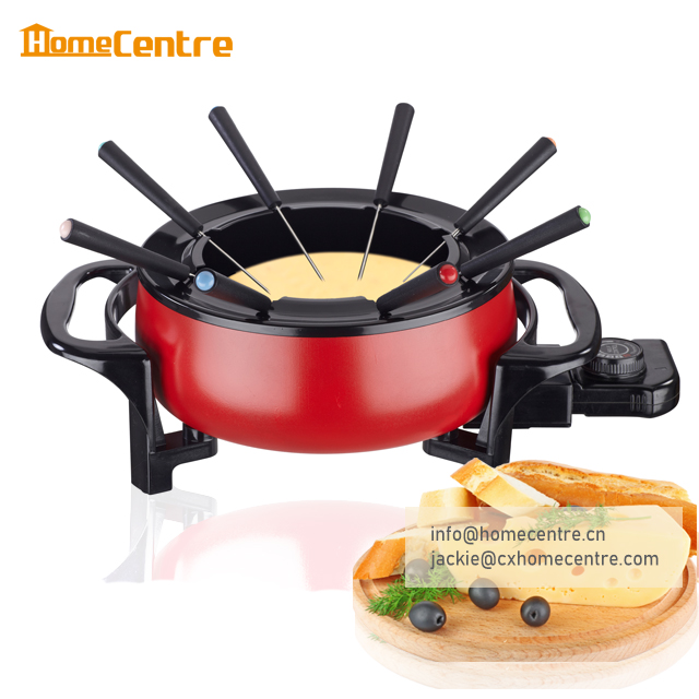 Electric cheese fondue with 8 forks 1.5L