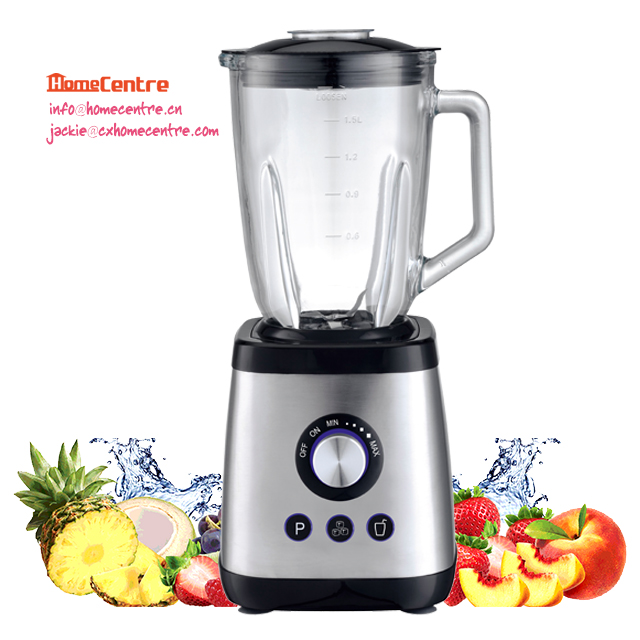 Table blender /1.5L glass jar/1000W with stepless variable speed/Pulse/Ice crush/Smoothie button